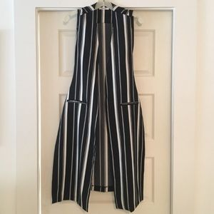 EUC {PinkyOtto} side slit long vest